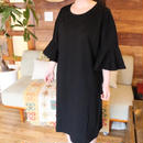 FRILLED  SLEEVE DRESS black