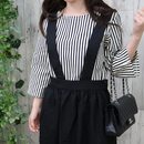 STRIPED TOP off-white 細