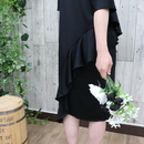 SIDE FRILLED DRESS black