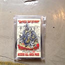 TMGE WORLD GEAR BLUES  TOUR  STAFF PASS