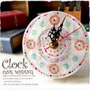 南国シェル置時計【to106】貝殻で作ったハンドメイド時計