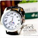 タイ文字腕時計【sak10】高級キャメロットタイ文字ロゴがおしゃれアナログ時計レザーバンド 色はシルバーでカジュアル個性的で派手め!メンズレディース兼用エスニックファッション
