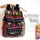 刺繍リュックサック【tk226】ブラックボーダー大容量A4民族黒のバックパック!エスニック柄の鞄でメンズ&レディースにも人気♪エスニックファッションでは必須のカジュアルブラックリュック