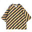 SHAREEF BIAS STRIPE BIG-T(Yellow)