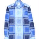FEEL EASY ORIGINAL ブルーブロックバンダナシャツ(Blue)