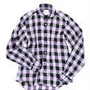 FEEL EASY ORIGINAL パープルブロックチェックシャツ(Purple)
