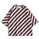 SHAREEF BIAS STRIPE BIG-T(Mokha Pink)