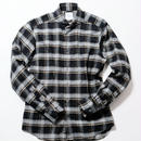 FEEL EASY ORIGINAL モノトーンチェック シャツ(Black)