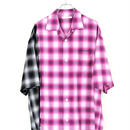 DISCOVERED OMBRE CHECK SHIRT(PINK×BLACK)