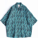 SHAREEF DRAWING PT S/S BIG SHIRTS(Turquoise)