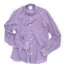 FEEL EASY ORIGINAL パープルギンガムテンセルシャツ(Purple)