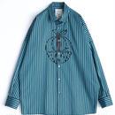 SHAREEF STRIPE L/S BIG SHIRT(Turquoise)