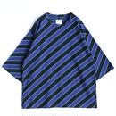SHAREEF BIAS STRIPE BIG-T(Navy)