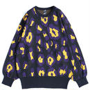 SHAREEF LEOPARD JQ L/S PULL-OVER(Black)