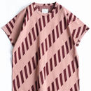 SHAREEF BIAS JQ CREW-NECK BIG-T(Mokha Pink×Brown)