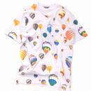 DANIELE ALESSANDRINI FULL FACE BALLOON T-SHIRT(WHITE)