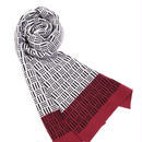 JENNIFER KENT BASKETWEAVE SCARF(BURGUNDY)