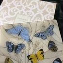 Fringe Studio Glass Tray Butterflies