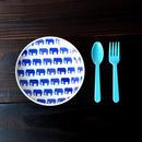 波佐見焼  15.5cmプレート(北欧風アニマル ーパスタ皿サイズ) - ゾウ【Made in Japan 陶磁器プレート】