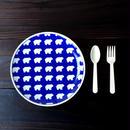 波佐見焼  21.5cmプレート(北欧風アニマル ーパスタ皿サイズ) - クマ 【Made in Japan 陶磁器プレート】