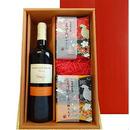 夏のギフトにワインと和菓子の贈り物 赤ワインとカステラ  メルロー100%の フランス 人気ブランド烏骨鶏本舗のカステラとラスクの組み合わせギフト