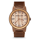 The Barrel 47mm/42mm - Whiskey/Espresso Barrel/Distressed Brown Leather