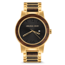 The Barrel 47mm - Brushed Gold/Ebony