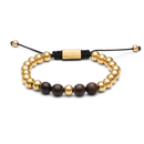 Macrame Bracelet 8mm - Ebony/Gold