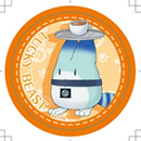 けものフレンズカフェ 旧缶バッジ(ラッキービーストおぼん)