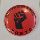 NORTHERN SOUL TOKYO バッジ 黒文字
