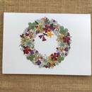 クリスマスカード リース2(2つ折り/封筒付)