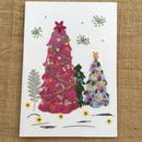 クリスマスカード ツリー4(2つ折り/封筒付)