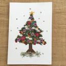クリスマスカード ツリー3(2つ折り/封筒付)