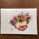メッセージカード ブーケ・ヴィオレM01(2つ折り/封筒付)