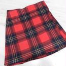 【ああ】巻きスカート 赤タータンチェック P17-1000