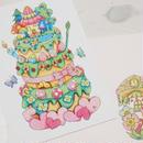 【PoPun.P】ケーキカード ピンク S48-276