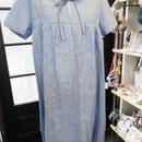 【ああ】チュニック しじら織り ブルー P17-0830