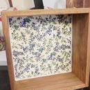 【o*ganic】木製ウォールボックス ブルー A3-0440