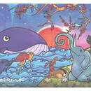 【やっぱおうちがいいね】ポストカード 鳥獣夢画 L12-0262