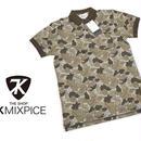 アウトドアも◎|新品|THE SHOP TK MIXPICE ブラウンベージュ系 迷彩柄ポロシャツ|表記サイズ:M(細身のためS〜M相当|肩幅:約38cm)|メンズ [TK MIXPICE-002]