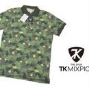 アウトドアにも◎春夏|新品|THE SHOP TK MIXPICE グリーン系 迷彩柄ポロシャツ|表記サイズ:M(細身のためS〜M相当|肩幅:約38cm)|メンズ [TK MIXPICE-003]