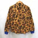 ウォッシュ加工カモフラシャツ(ユニセックス)