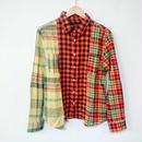 切り替えチェックシャツ(ユニセックス)