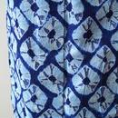 【浴衣】有松 蜘蛛絞り 藍×ライトブルー トールサイズ
