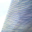 【コート】グレーモーブにカラフルカラ-斜め格子の紗道行コート