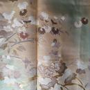 【袷】二色暈しに植物文訪問着