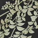 【単衣】濃紺地に白い植物文小紋