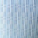 【単衣】藍染め細縞綾織り