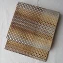 【ふくろ帯】金銀幾何学文の袋帯