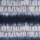 【浴衣】濃藍色の縞 絞り調の浴衣